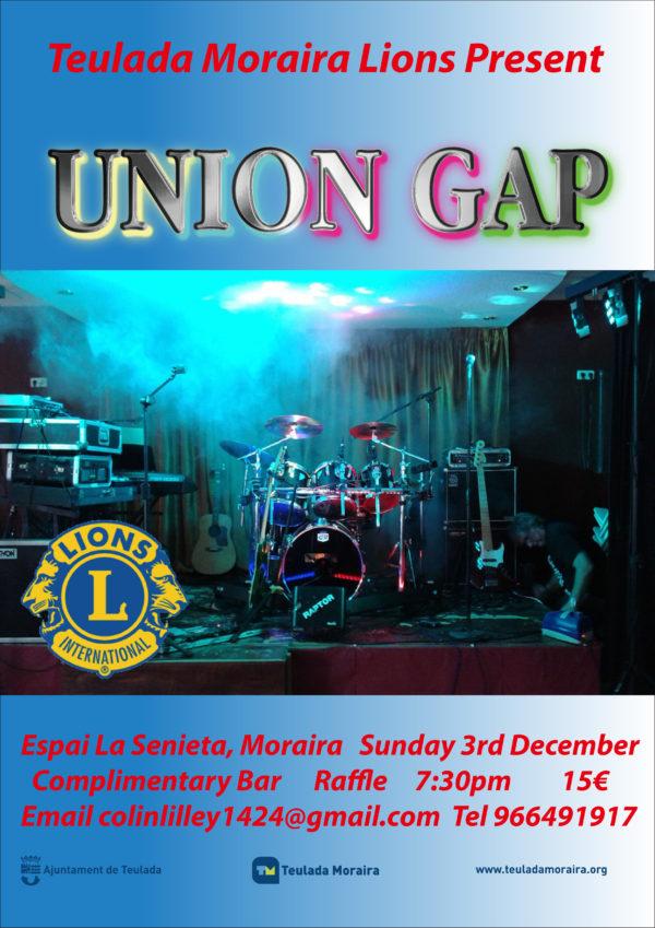 171203 - Sunday, 3 December - TM Lions present Ges Rogers Union Gap